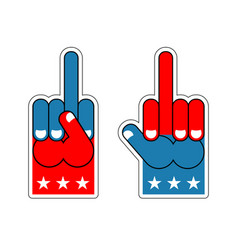 Foam finger fuck usa patriotic sign symbol of vector