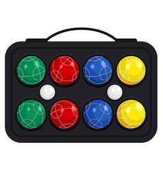 Bocce ball in kit or case vector