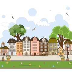 European city center collection vector