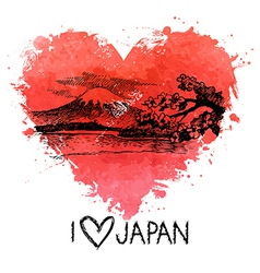 Hand drawn sketch Japanese vector image