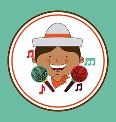 colombian kid vector image