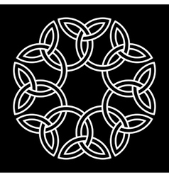 Flower-like celtic knot vector