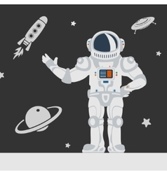 Astronauts in space vector