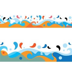 Sea colorful waves design vector