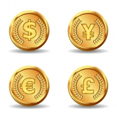 Gold currency icon vector