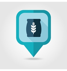 Sack of grain flat pin map icon map pointer vector
