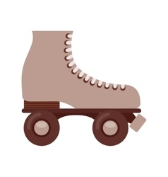 Retro skate isolated icon design vector