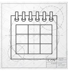 calendar icon Epsclassic blueprint of0 vector image vector image