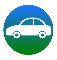 Car sign white icon in vector