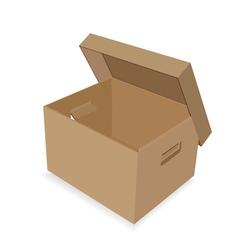 cardboard box vector image