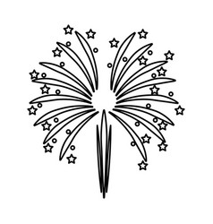 Celebration national party firework abstract image vector