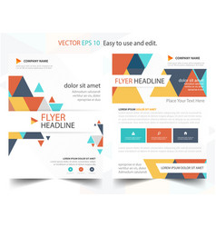 colorful abstract triangle annual report brochure vector image vector image