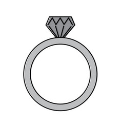 Diamond engagement ring icon image vector