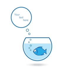 Fish talk vector image