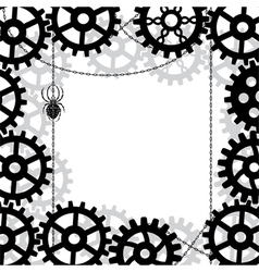 gears spider and chains vector image