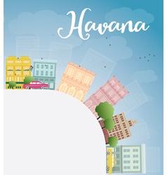 Havana skyline vector
