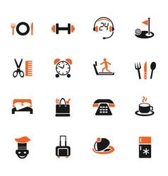 Hotel service icon set vector