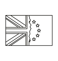 Isolated brexit flag design vector image vector image