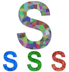 Mosaic font design - letter s vector