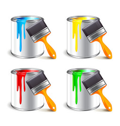 Paint can isolated on white vector image vector image