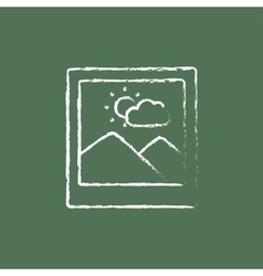Picture icon drawn in chalk vector image