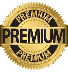 Premium gold label vector image