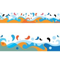 Sea colorful waves design vector