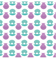 Sea shell pattern background vector