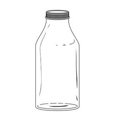 silhouette glass bottle with lid vector image vector image