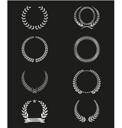 SilhouetteLaurel Wreaths Set vector image vector image