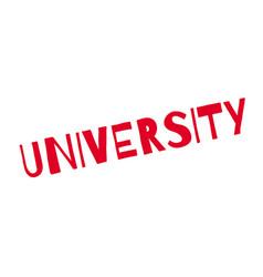 University rubber stamp vector