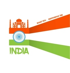 Abstract flag for indian independence day vector