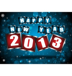 New year 2013 in blue background vector image