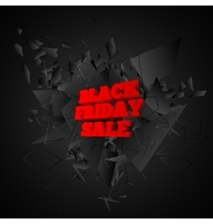 Black friday sale banner abstract black explosion vector