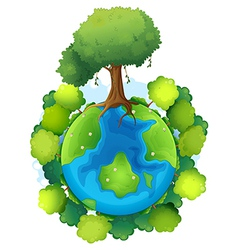 Mother earth vector image