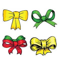 Bows and ribbons vector