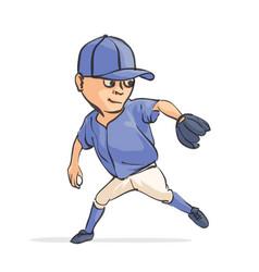 cartoon baseball player vector image