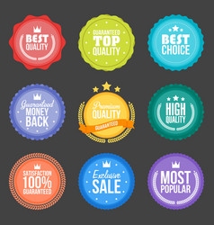 collection of modern flat design styled labels vector image
