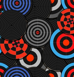 Colorful targets seamless background vector image