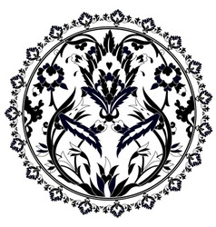 Ottoman motifs design series with twenty version vector