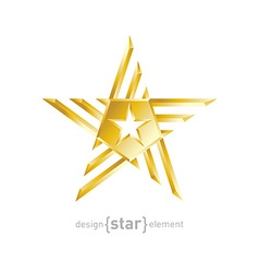 Gold abstract star on white background vector
