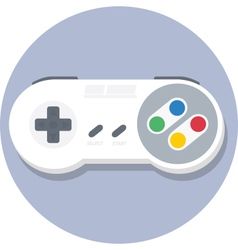 Vintage super nintendo snes gamepad flat icon vector