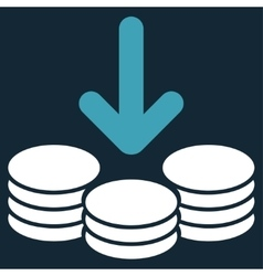 Income icon from commerce set vector