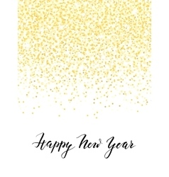 New year design with golden confetti and lettering vector