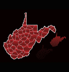 counties of west virginia vector image