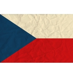 Czech republic paper flag vector