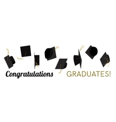Graduation hat cap off vector