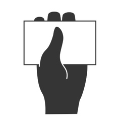 Business card hand icon vector