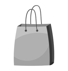Bag with handles icon gray monochrome style vector
