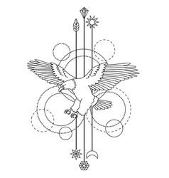 bald eagle tattoo vector image vector image